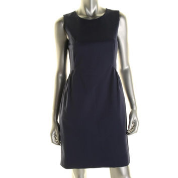 Kate Spade Womens Gathered Sleeveless Wear to Work Dress