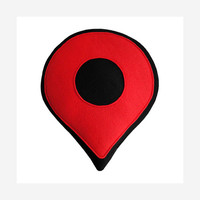 Google Map Pin Pillow - Red