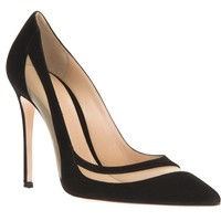 Gianvito Rossi Mesh Panel Pump