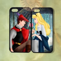 Sleeping Beauty and Prince Couple Case-iPhone 5, iphone 4s, iphone 4, ipod 5, Samsung GS3-Silicone Rubber or Hard Plastic Case, Phone cover