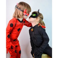 2018 Kids Boys Miraculous LadyBug Cat Noir Cosplay Cosutume Girls Lady Bug Costumes Children Adrien Marinette Superhero Clothes