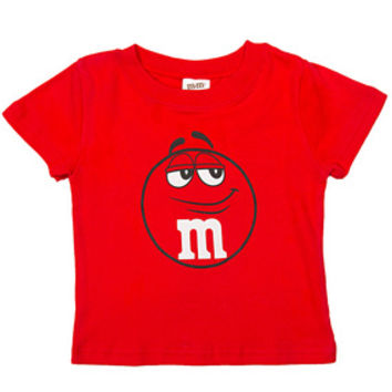 M&M's Candy Character Face T-Shirt - Toddler - Red - 3T