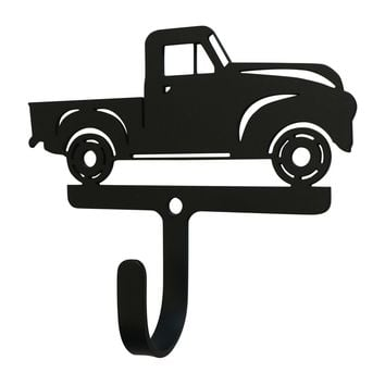 Wrought Iron Antique Truck Decorative Wall Hook Small