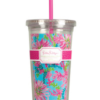 Tumbler With Straw - Lilly Pulitzer