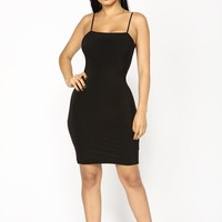Take It Back Dress - Black