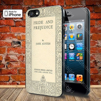 Jane Austen Cover Book Pride and Prejudice Case For iPhone 5, 5S, 5C, 4, 4S and Samsung Galaxy S3, S4