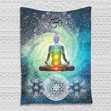 Indian Mandala Tapestry 200X130cm Bohemian Bedspread Dorm Cover Yoga Mat Beach Towel Home Room Wall Art Decor