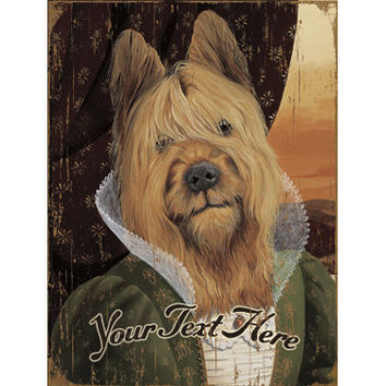 Personalized Fancy Yorkie Wood Sign