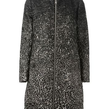 Moncler Gamme Rouge jacquard textured zipped coat