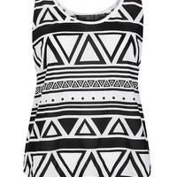 Petite Mono Aztec Print Vest - New In This Week - New In - Topshop USA