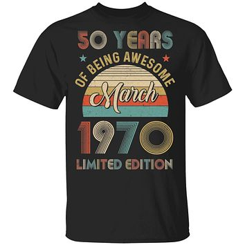 Vintage March 1970 Limited Edition 50th Birthday Gifts