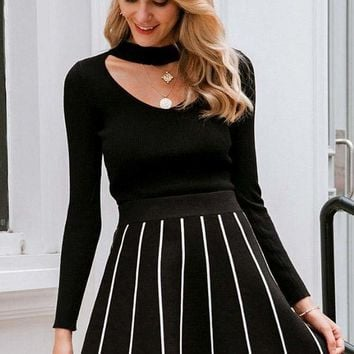 Portland Striped Skirt