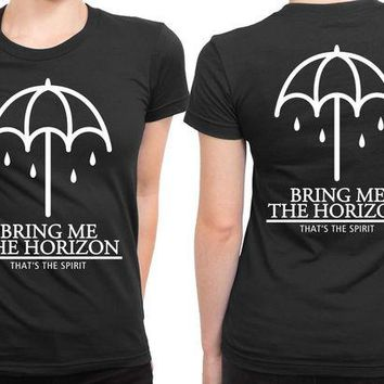 VONEED6 Bring Me The Horizon That The Spirit Umbrella Cover 2 Sided Womens T Shirt