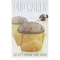 Set of Two Pup Cake Cases - Multi