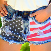 AMERICAN HONEY DENIM SHORTS