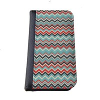 Aztec chevron colorful Iphone 6 (4.7-Inch) wallet case black flip case for iPhone 6 (4.7)
