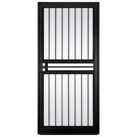 Unique Home Designs Guardian 36 in. x 80 in. Black Outswing Security Door with Shatter-Resistant Glass Inserts-IDR10000362004 at The Home Depot