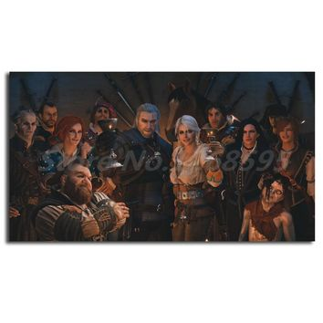 The Witcher 3 Wild Hunt Happy Ending Mod HD Canvas Painting Print Living Room Home Decor Modern Wall Art Oil Painting Poster