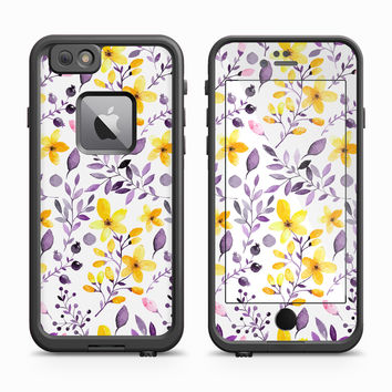Yellow and Purple Wildflowers Skin for the Apple iPhone LifeProof Fre Case