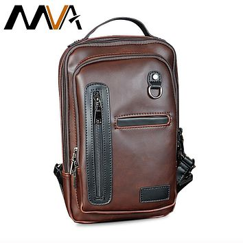 Multifunction Messenger Bag Men Leather Shoulder Crossbody Bag For Man Vintage Shoulder Handbag Small PU Leather Men Bags