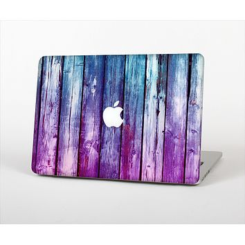 "The Pink & Blue Dyed Wood Skin Set for the Apple MacBook Pro 13"" with Retina Display"