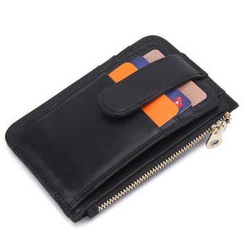 Slim, Minimalist Leather Bifold Wallets with Money Clip, Credit Card Holder