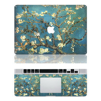 Van Gogh's Almond Blossom -- Macbook Protective Decals Stickers Mac Cover Skins Vinyl Case for Apple Laptop Macbook Pro/Macbook Air