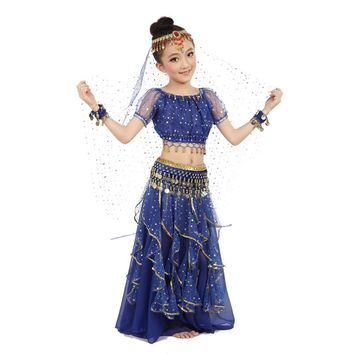 New Style Kids Belly Dance Costume Oriental Dance Costumes Belly Dance Dancer Clothes Indian Dance Costumes For Kids 3pcs/set