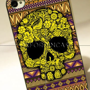 Floral Sugar Skull Vendita Aztec Tribal - for iPhone 4/4S case iPhone 5 case hard case hard cover