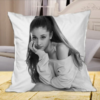 Ariana Grande on Square Pillow Case