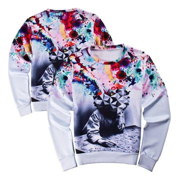 2017 Unisex 3D Sweatshirts Funny Thinkers Print Novelty Crewneck Sweat Shirts Harajuku Style Pullover Hoodie