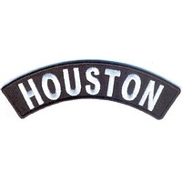 Houston Rocker Patch Small Embroidered Motorcycle NEW Biker Vest Patch