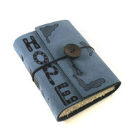 Journal Leather Diary Notebook Hope by Kreativlink on Etsy