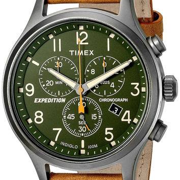 Timex Expedition Scout Chronograph Watch Tan/Green