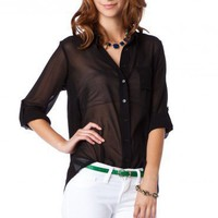 Broome Blouse in Black  - ShopSosie.com