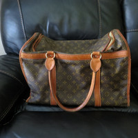 Authentic Vintage Louis Vuitton Sac Chien 50 Monogram Travel Bag