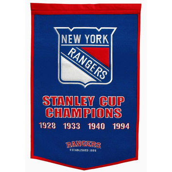 New York Rangers NHL Dynasty Banner (24x36)