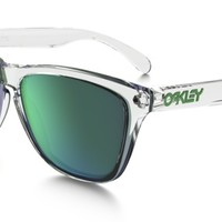 Oakley Frogskins Crystal Collection in POLISHED CLEAR / JADE IRIDIUM | Oakley