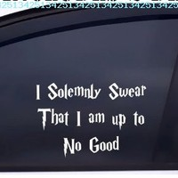 Harry Potter Decal I Solemnly Swear I Am up to No Good. White:Amazon:Automotive
