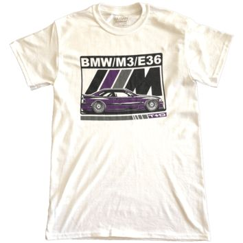 072a02ab339 BMW E36 M3 TechnoViolet T-shirt