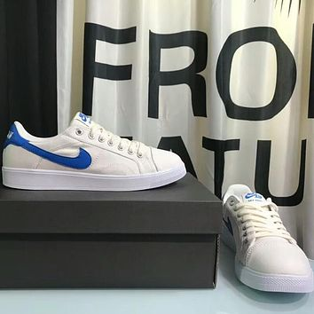 NIKE AIR JORDAN men's and women's casual sports shoes low cut shoes F-AHXF White+blue hook