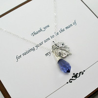 Set of 2, Mother of the Bride Necklace, Mother of Groom Gift, Mother of Bride, Mother of the Groom, Mother of Bride Jewelry