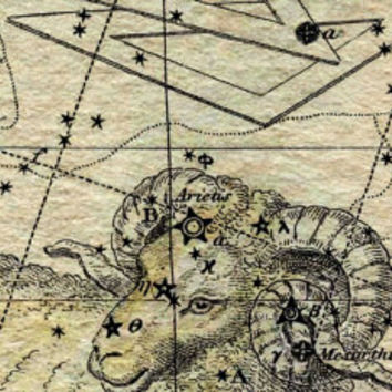 Aries Constellation, Astronomy, Astrology, Canvas
