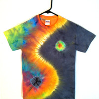 Tie Dye Shirt - Rainbow Yin Yang T-Shirt - 100% Cotton