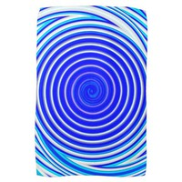 Blue Spiral Hand Towel