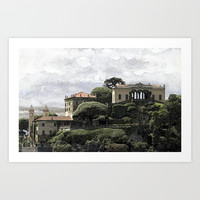 Lake Como Art Print by anipani