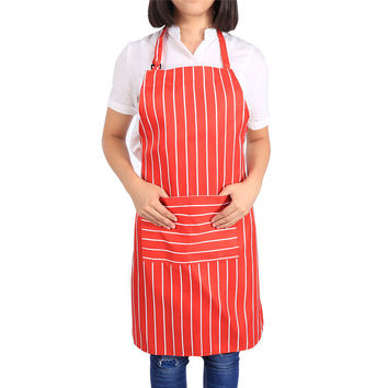 Unisex 5 Patterns  Practical Kitchen Restaurant Chef Cooking Aprons Dress With Pockets For Home Kitchen Pub Cafe Waitress  Chef