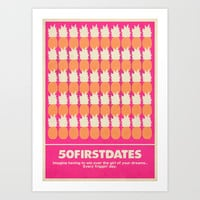 50 First Dates Movie Poster Art Print by RoarsAdams