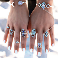 Women 8Pcs Rings