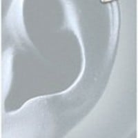 Earwrap® (tiny two band Earcuff) 6DSS Sterling Silver